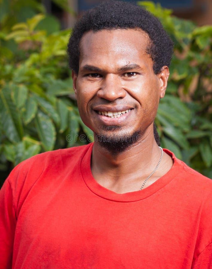 Portrait of dark skinned man stock images