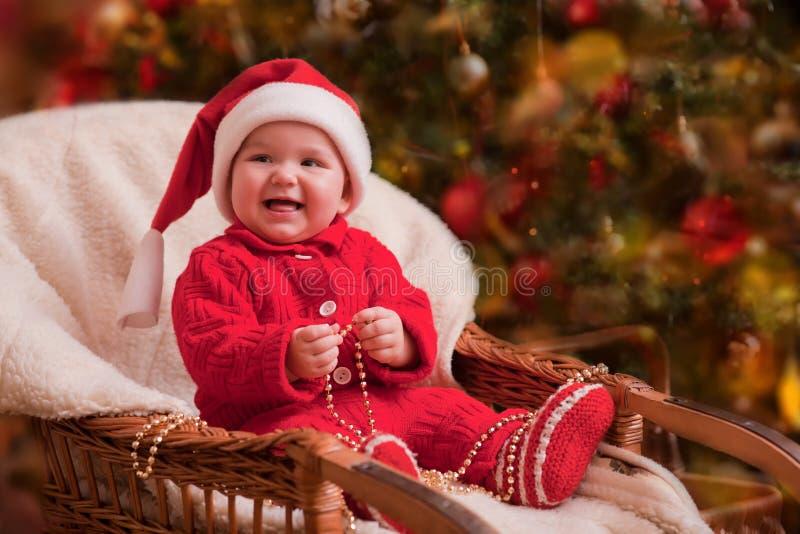 Portrait de bébé de Noël images stock