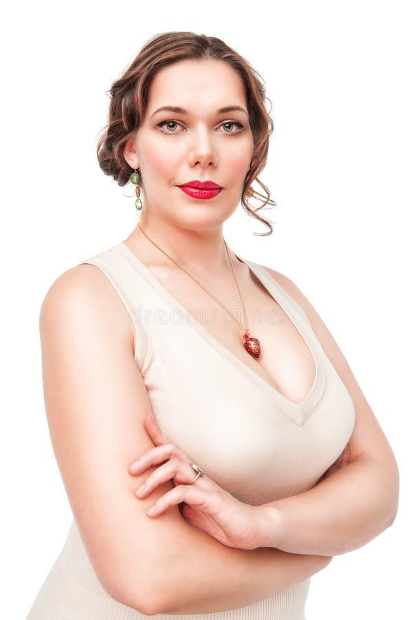 Portrait de beau plus la femme de taille image libre de droits