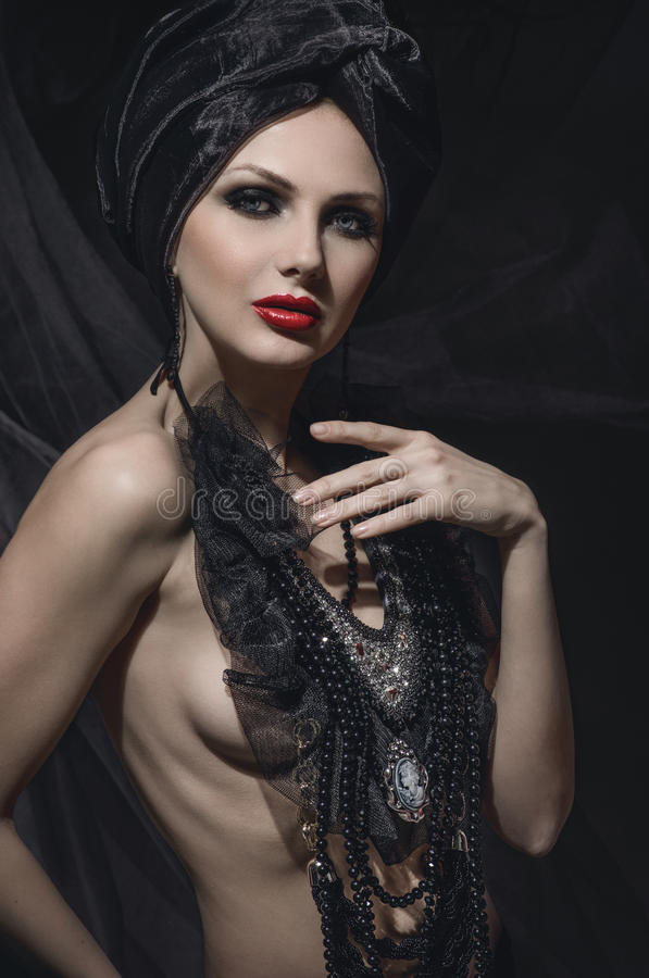 Portrait de beauté de femme avec le maquillage créatif photo libre de droits