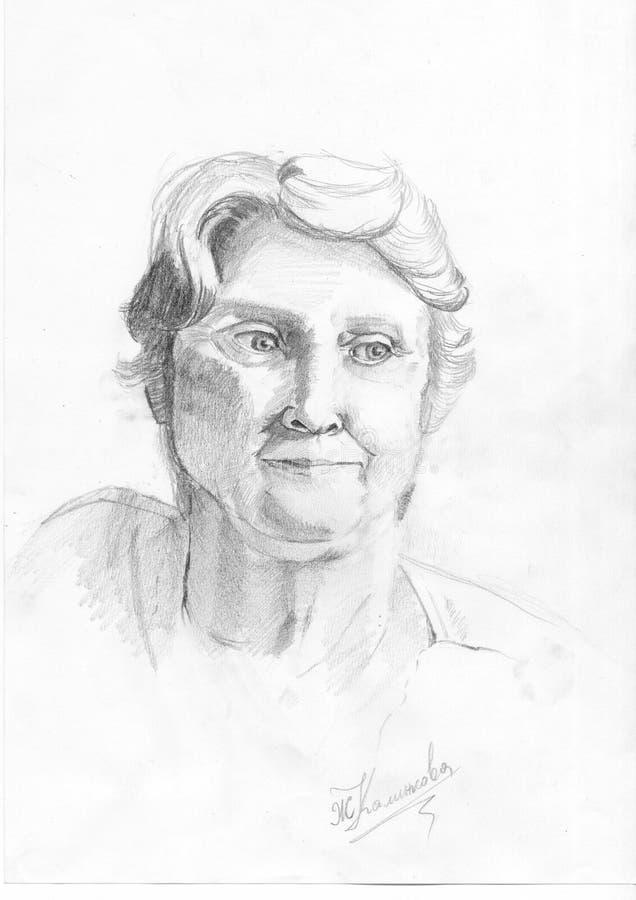 Portrait de belle dame âgée photographie stock libre de droits