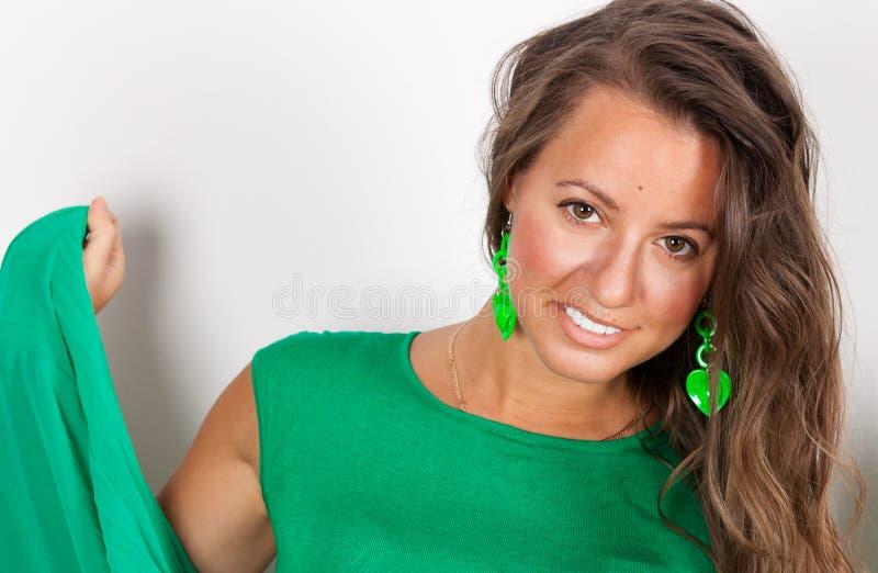Portrait de belle femme photo stock