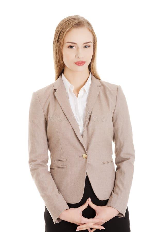Portrait de belle femme attirante d'affaires photographie stock