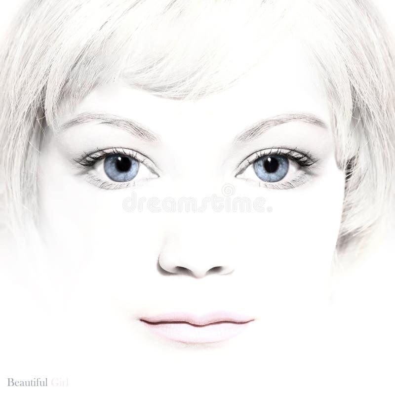 Portrait de belle jeune fille photos libres de droits