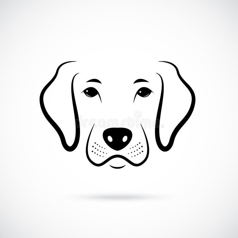 Portrait de chien Icône de chien de schéma illustration de vecteur