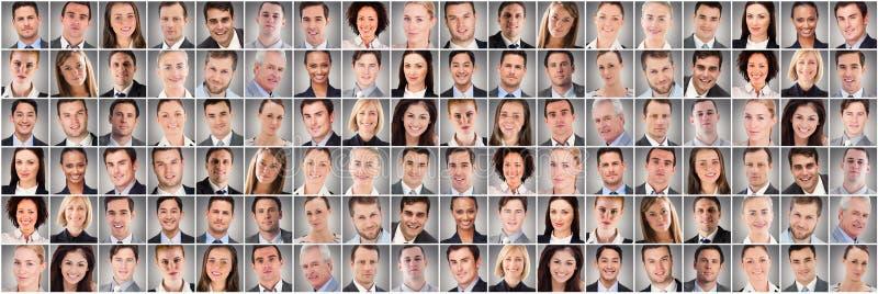 Portrait de collage de personnes très au loin photographie stock