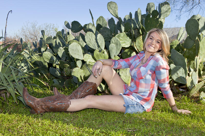 Portrait de cow-girl photographie stock libre de droits