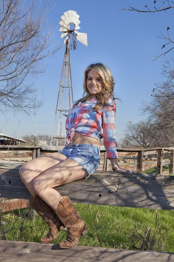 Portrait de cow-girl photographie stock