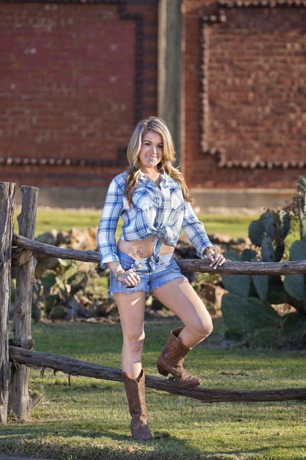 Portrait de cow-girl image stock