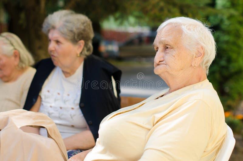 Portrait de dame âgée photos libres de droits