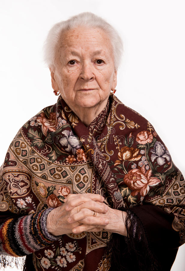 Portrait de dame âgée images libres de droits