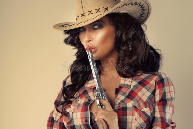 Portrait de dame sexy de brune. images libres de droits