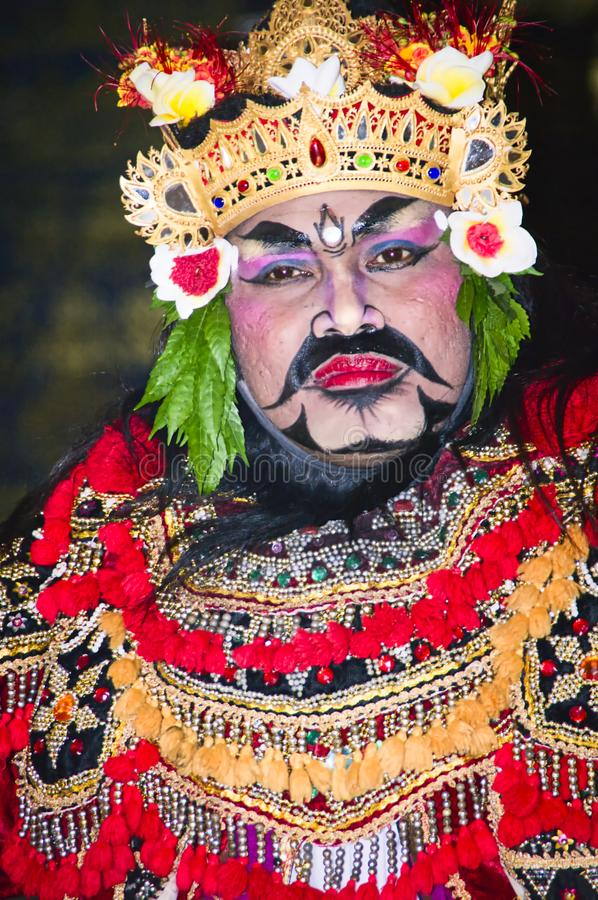 Portrait de danse de Jauk une danse traditionnelle de Balinese, Indon?sie photos stock