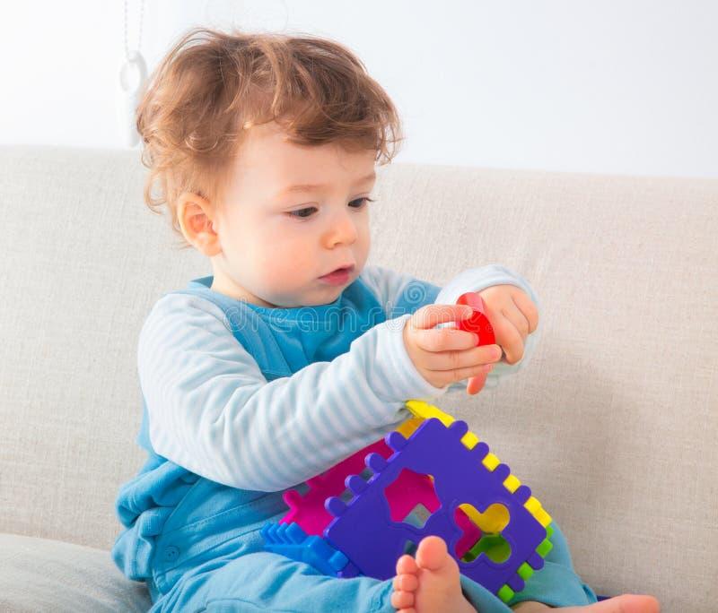 Portrait de 1 an de bébé garçon photos libres de droits