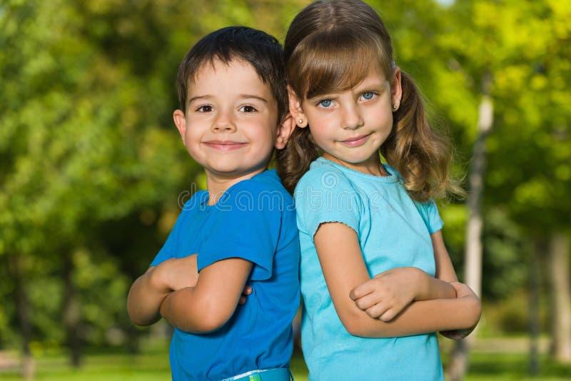 Portrait de deux enfants image libre de droits