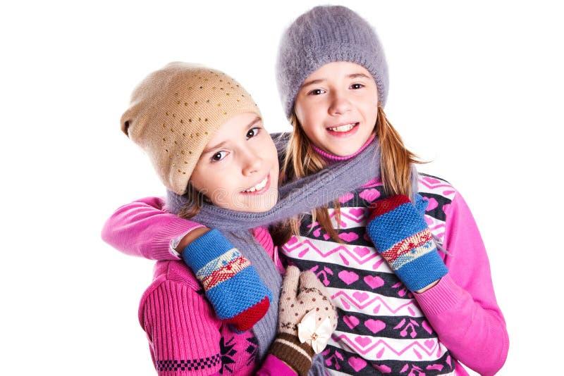 Portrait de deux jeunes belles filles image libre de droits