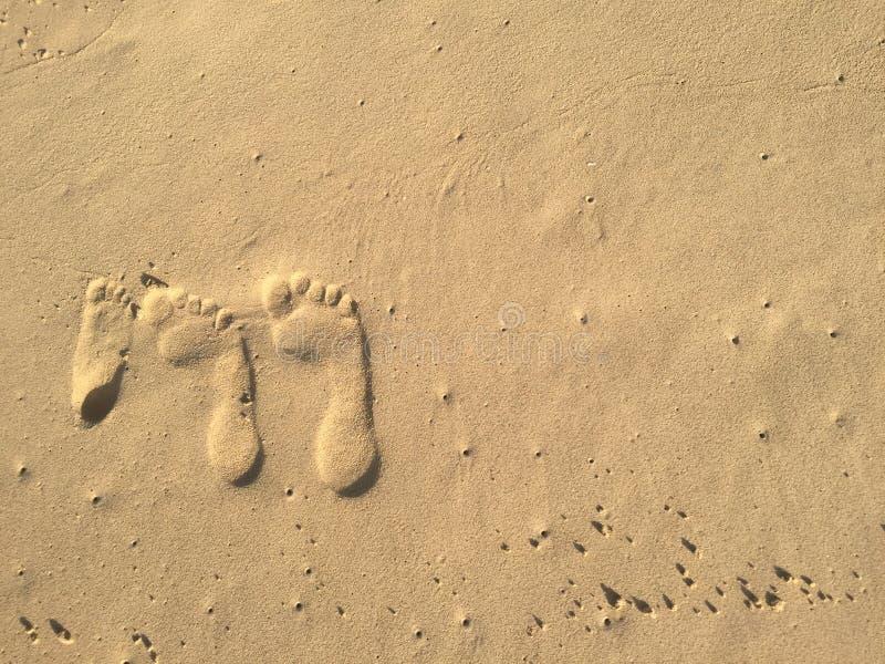 Portrait de Familiy fait en sable photo libre de droits