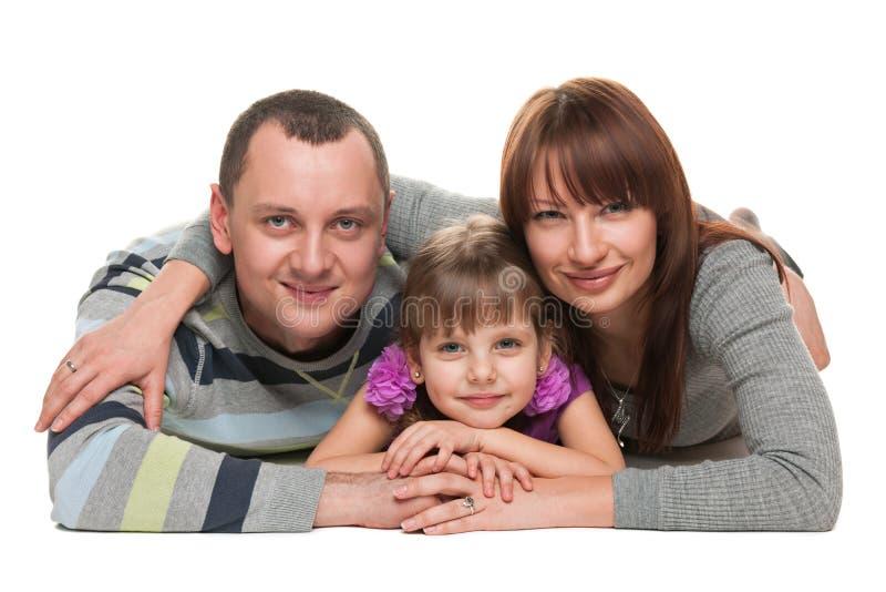 Portrait de famille heureuse images libres de droits