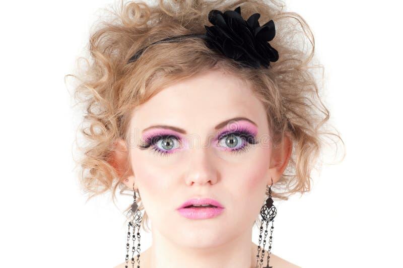 Portrait de femme blonde image stock
