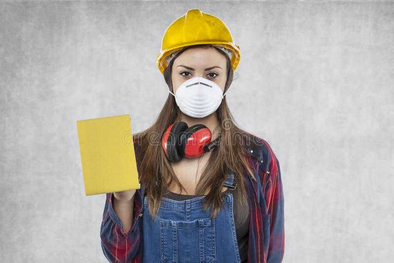Portrait de femme de construction photo libre de droits