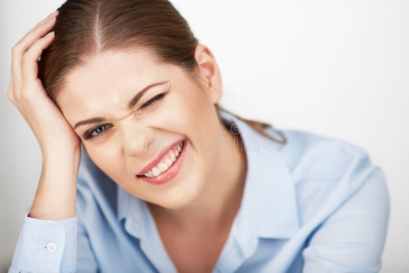 Portrait de femme d'affaires Fin vers le haut photographie stock libre de droits