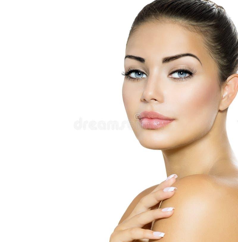Portrait de femme de beauté images libres de droits