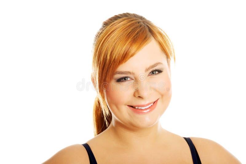 Portrait de femme de poids excessif images stock