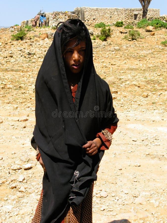 Portrait de femme de tribu d'Al-Mahrah de Soqotri, île d'île de Socotra, Yémen photos stock