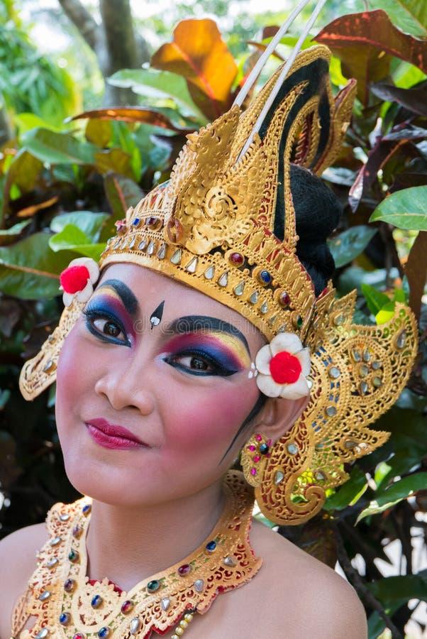 Portrait de femme pendant la cérémonie de nouvelle année de Balinese dans Bali, Ind photos libres de droits