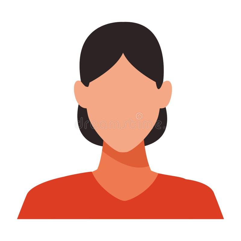 Portrait de femme sans visage illustration libre de droits