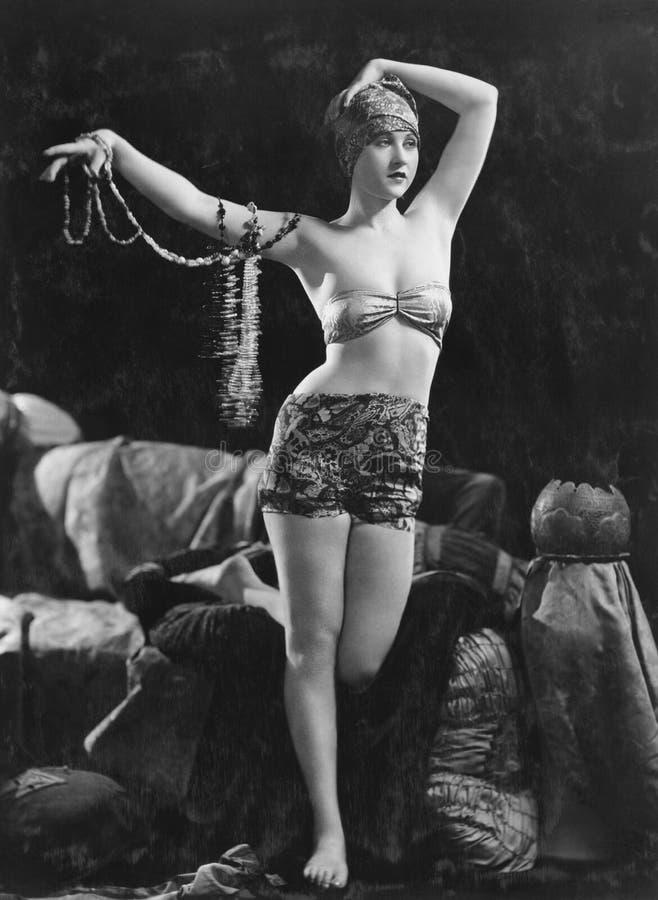 Portrait de femme sensuelle exotique (toutes les personnes représentées ne sont pas plus long vivantes et aucun domaine n'existe  image libre de droits
