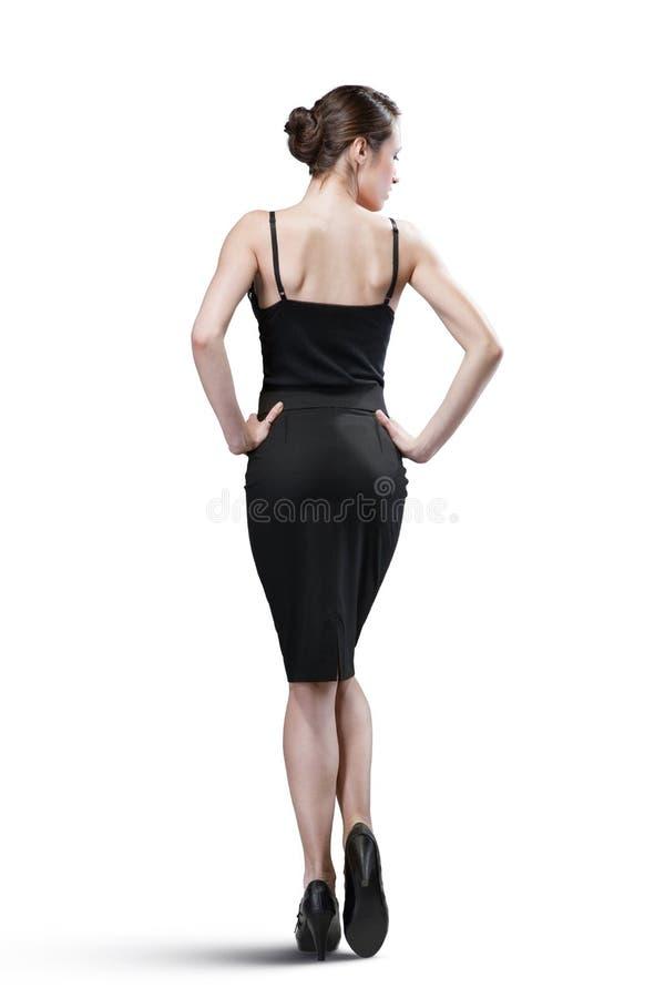 Portrait de femme sexy dans le noir image libre de droits