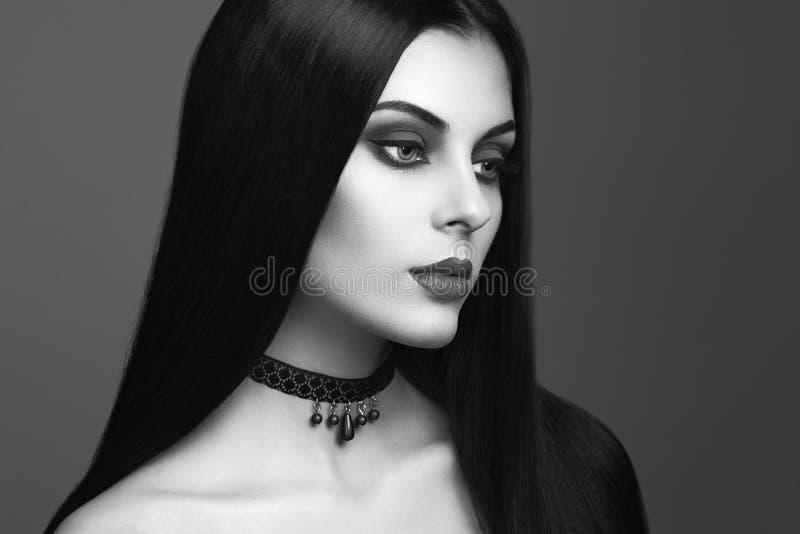 Portrait de femme de vampire de Halloween images libres de droits