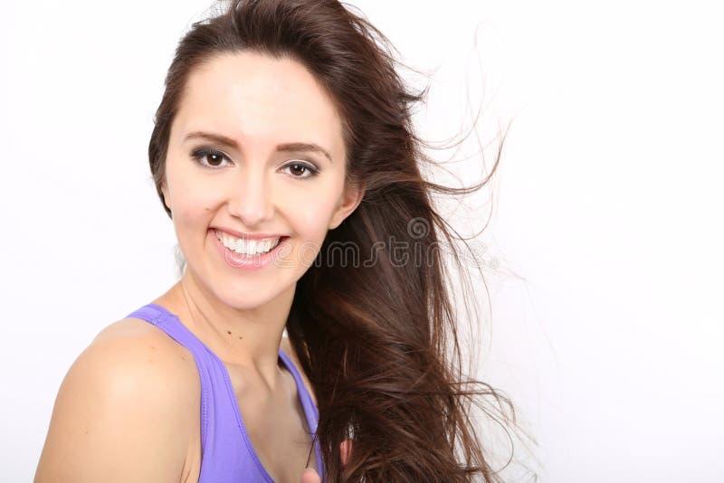 Portrait de fille de beauté avec de longs cheveux image libre de droits