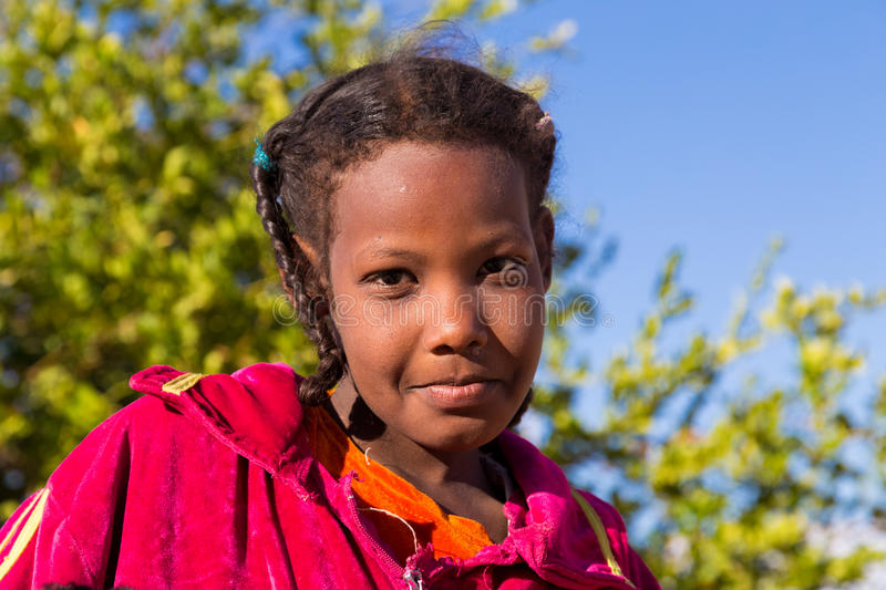 Portrait de fille de Nubian photo stock