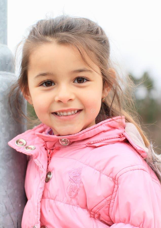 Portrait de fille de sourire images libres de droits