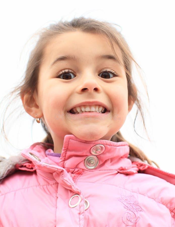 Portrait de fille de sourire photographie stock libre de droits