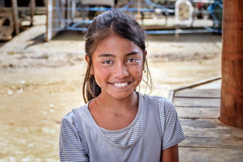 Portrait de fille indonésienne en Tana Toraja photos stock