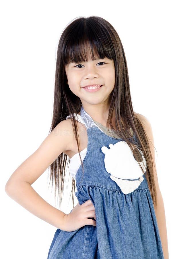 Portrait de fille mignonne asiatique heureuse images libres de droits