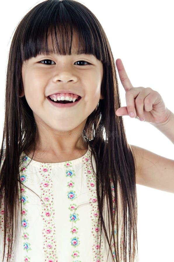 Portrait de fille mignonne asiatique heureuse photo libre de droits