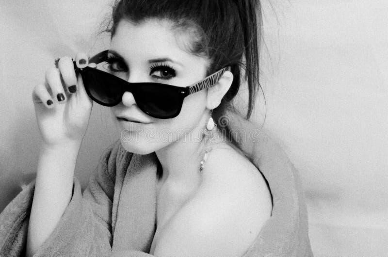 Portrait de fille recherchant photographie stock