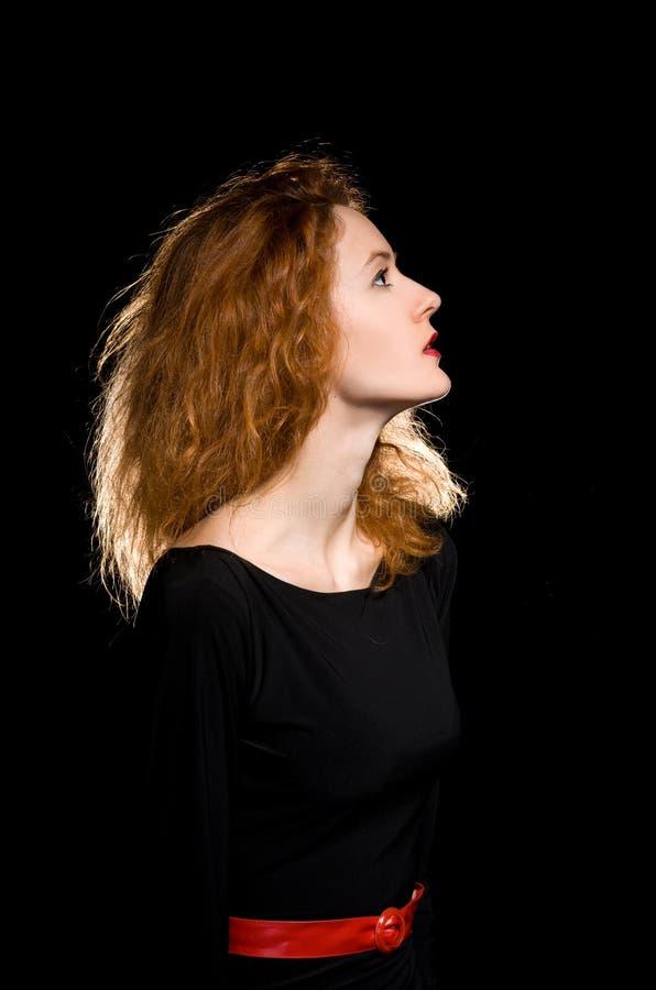 Portrait de fille rousse images stock