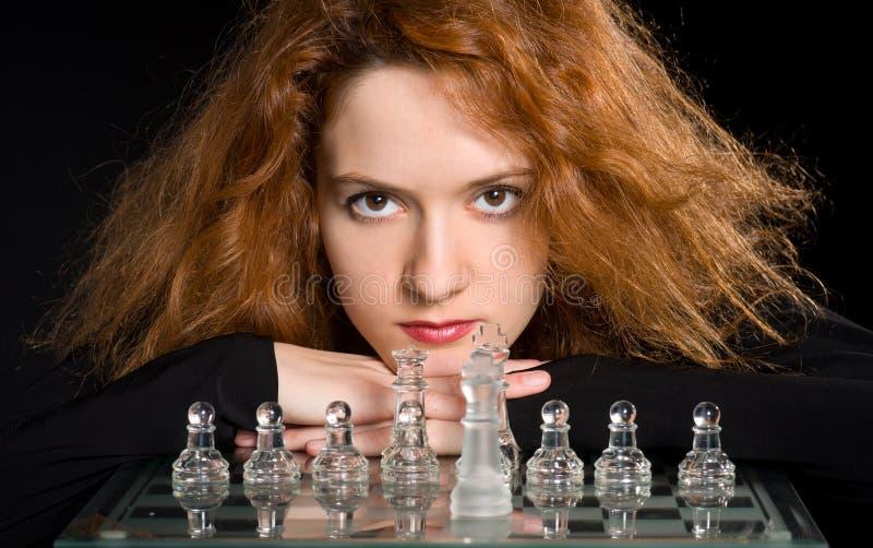 Portrait de fille rousse photo libre de droits