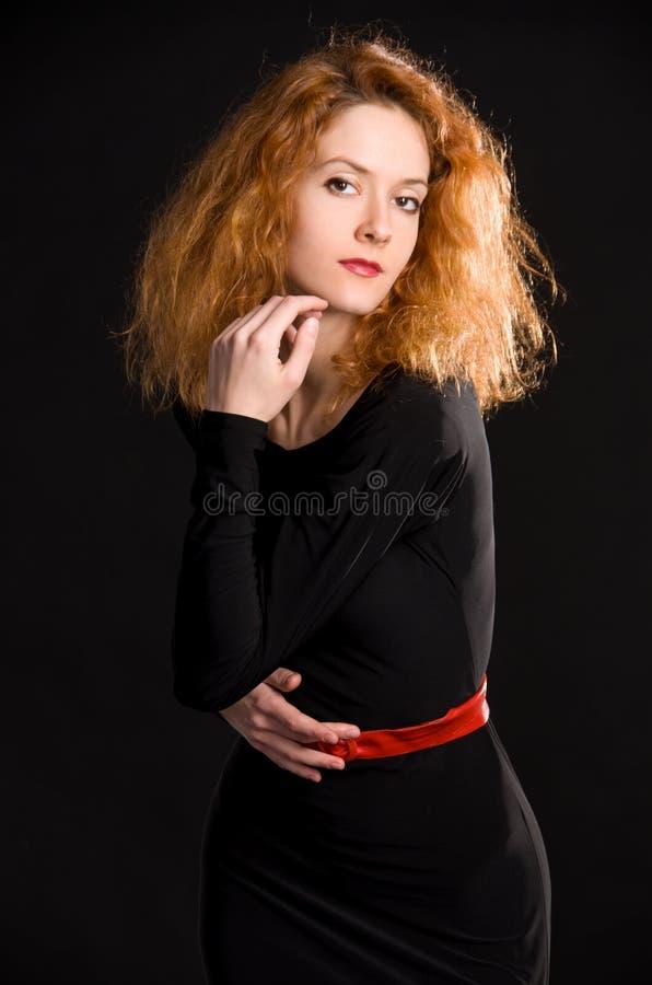 Portrait de fille rousse photo stock
