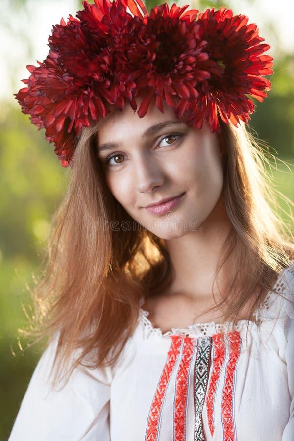 Portrait de fille ukrainienne photographie stock libre de droits