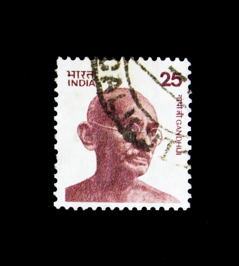 Portrait de Gandhi, serie, vers 1976 photographie stock libre de droits