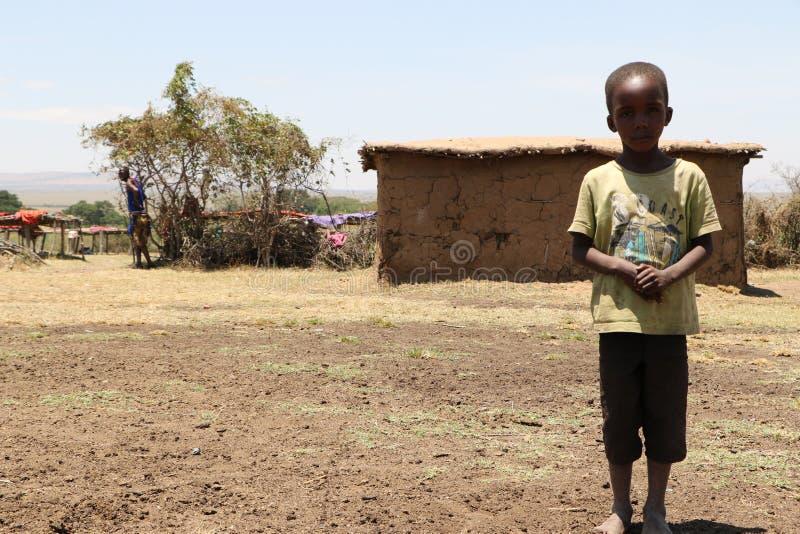 Portrait de garçon de massai image libre de droits