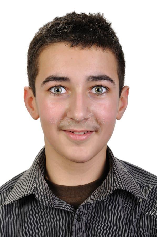 Portrait de garçon d'adolescent images libres de droits
