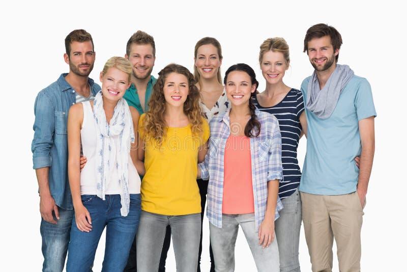 Portrait de groupe des personnes heureuses occasionnelles photos libres de droits