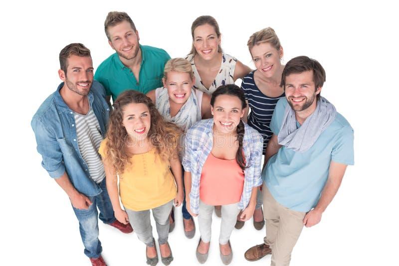 Portrait de groupe des personnes heureuses occasionnelles photographie stock